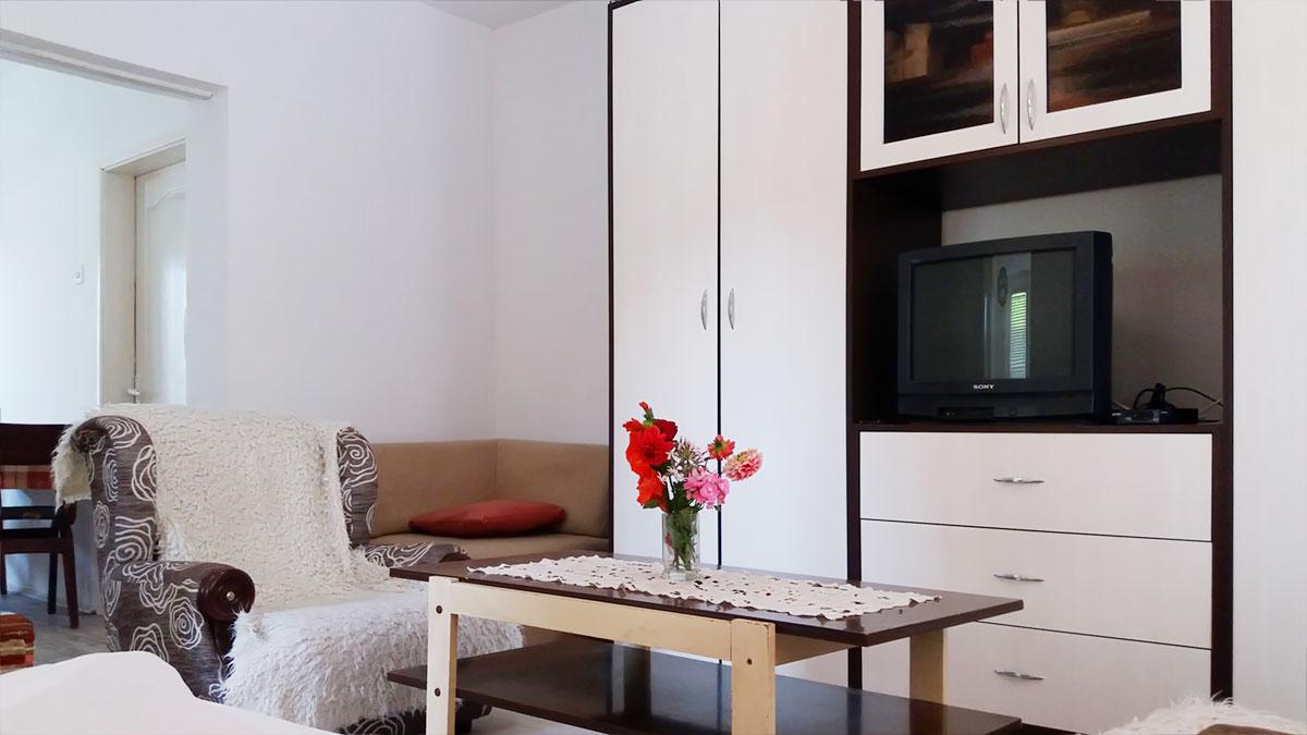 Apartman Aronija - Dnevna soba: TV, orman